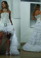 Abito da sposa asimmetrico con cinta  avita bassa - Modello Christina