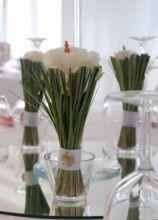 Particolare del segna tavolo per le nozze