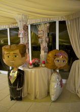 Decorazioni di palloncini per il ricevimento di nozze