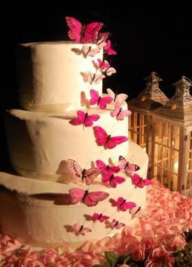 Torta di nozze con decori di farfalle