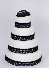 Wedding cake stile Audrey Hepburn