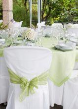 Mise en place verde acqua per il matrimonio
