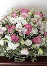 Bouquet per la sposa sui toni del rosa