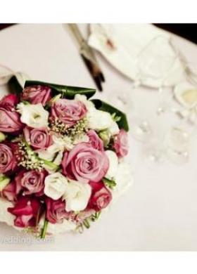 Bouquet di rose fucsia