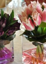 Centrotavola colorati per nozze moderne