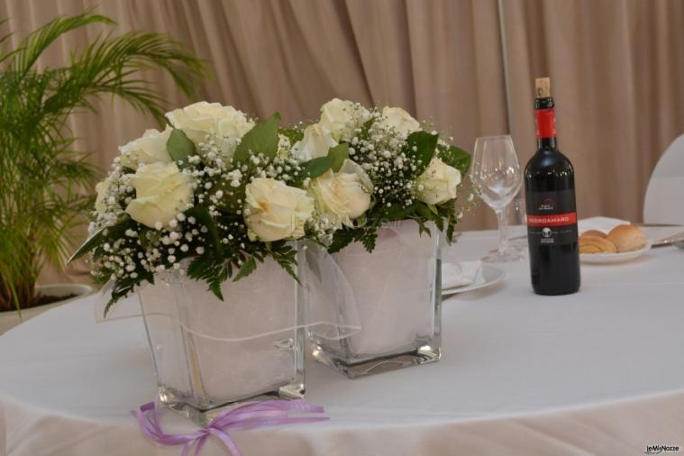 Composizione floreale per il matrimonio