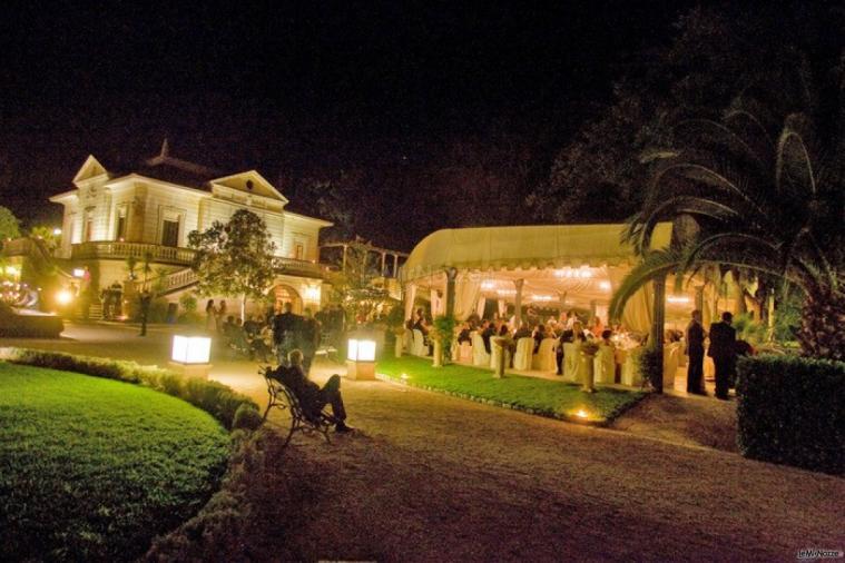 Villa Vergine - Ricevimento di matrimonio sotto il gazebo