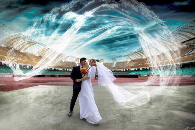 Michele Manicone Fotografia -Gli sposi allo stadio