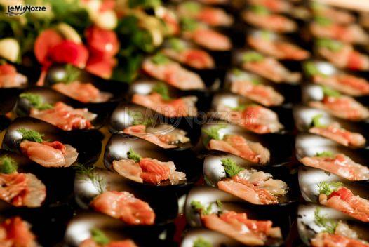 Finger food di pesce per il matrimonio
