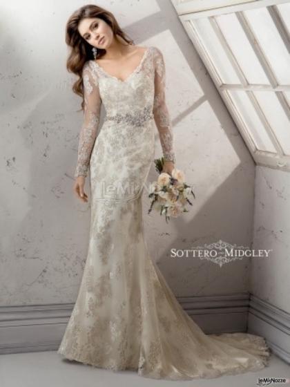 53212d30e134 Abito da sposa ricamato con maniche lunghe - Mod. Anastasia Sottero    Midgley