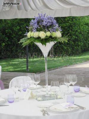 Matrimonio In Glicine : Foto centrotavola matrimonio centrotavola glicine e bianco