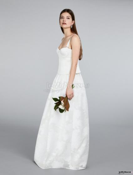 Max Mara Bridal - Bustier in raso con gonna jacquard