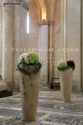 Foto 241 addobbi floreali chiesa e cerimonia vasi alti - Vasi da esterno alti ...