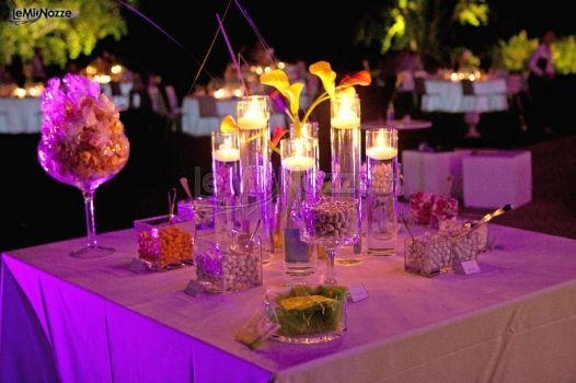Foto 345 centrotavola matrimonio decorazioni con - Decorazioni con candele ...