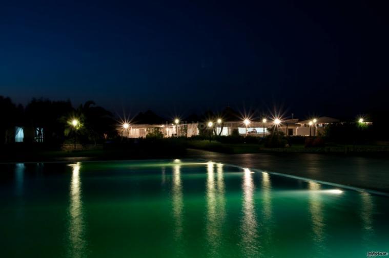 Esterno con piscina sala BluOltremare