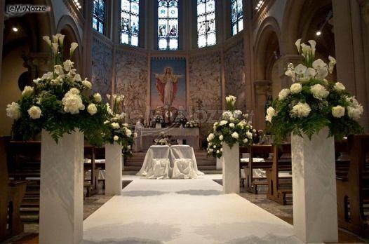Matrimonio In Chiesa : Fiori matrimonio chiesa bergamocatina flora