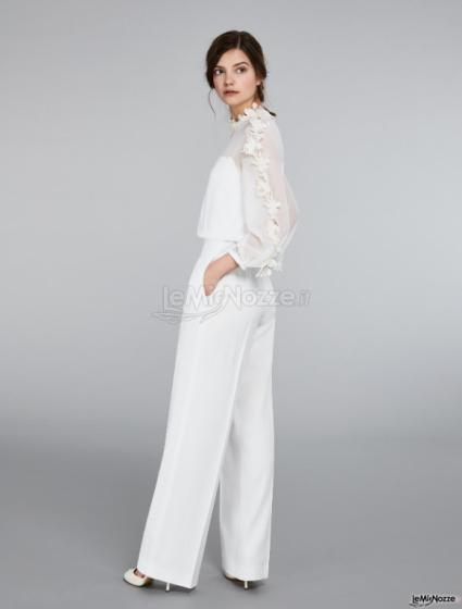 Max Mara  Bridal - Tuta in envers satin e georgette
