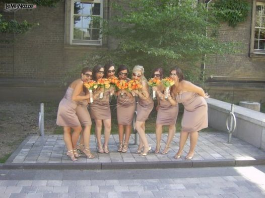 Foto delle damigelle della sposa