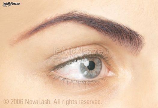 Extension occhio prima - Trucco per la sposa