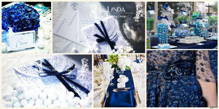 Elegante partecipazione fatta a mano con carta lino nei colori del bianco e del blu notte. Il porta partecipazione interamente fatto a mano rappresenta la chiusura dei petali è interamente decorato con un motivo che richiama la rosa. All'interno si lasci