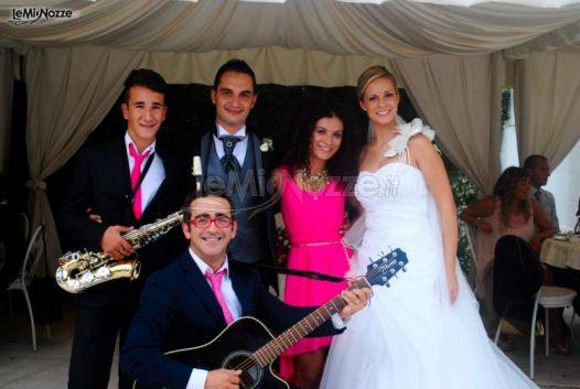 Lillo Strillo con gli sposi