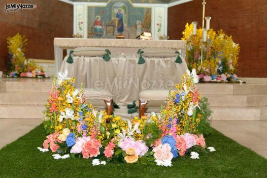 Fiori Gialli Matrimonio.Foto 474 Addobbi Floreali Chiesa E Cerimonia Fiori Gialli