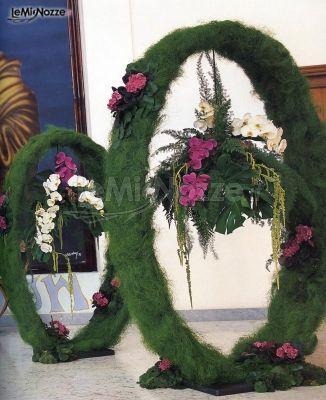 Decorazione floreale per il ricevimento di matrimonio for Decorazione floreale