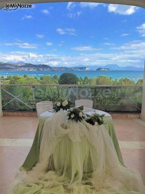 Allestimento in verde per i tavoli delle nozze - Poggio Ruppelt dal Tedesco 1930