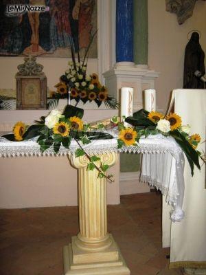 Addobbi Matrimonio Girasoli : Foto addobbi floreali chiesa e cerimonia decorazioni di