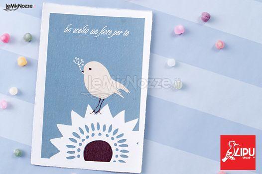Cartolina di ringraziamento della LIPU