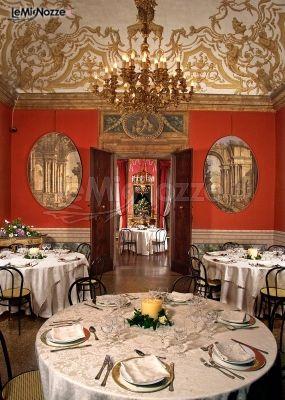Sala interna per il ricevimento di matrimonio a Palazzo Isolani