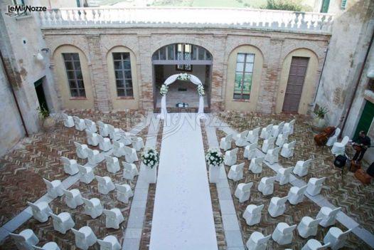 Allestimento di un matrimonio realizzato da CG Wedding Planner