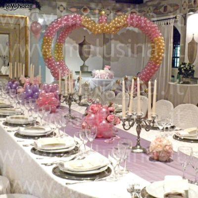 Carrozza e tavolo imperiale per un battesimo melusina - Addobbi tavolo battesimo ...