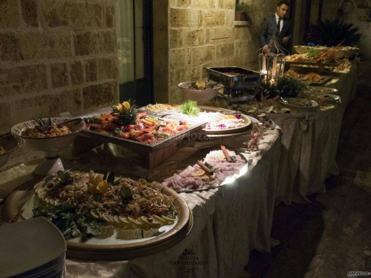 Tenuta San Leonardo - Il buffet degli antipasti di pesce