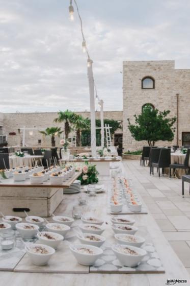 Casale San Nicola - Il buffet all'aperto