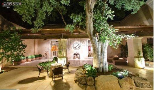 cortile interno per accogliere gli ospiti al ricevimento