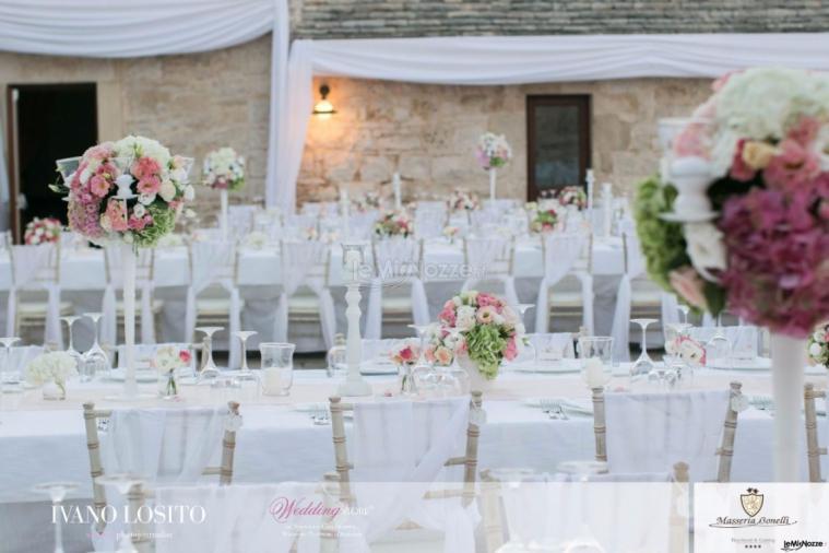 Masseria Bonelli - L'allestimento esterno per il matrimonio