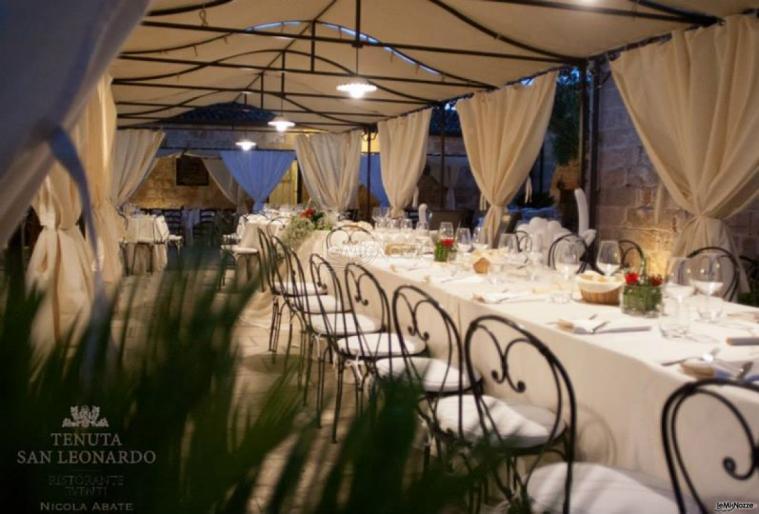 Tenuta San Leonardo - La tavolata sotto il gazebo