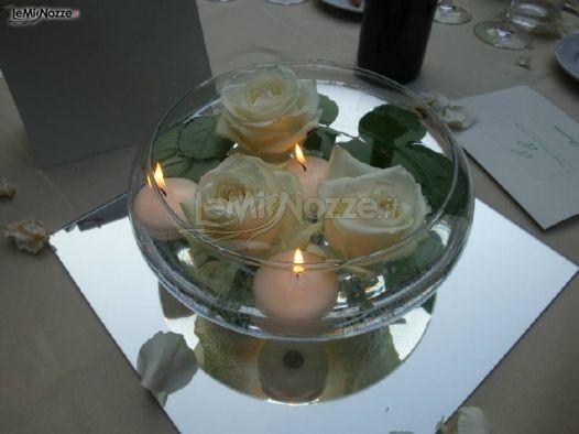 Foto 173 centrotavola matrimonio decorazioni floreali for Centrotavola matrimonio candele