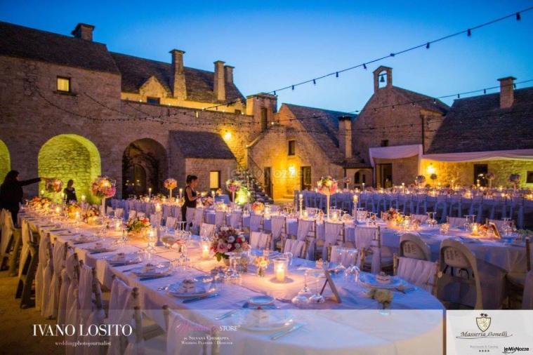 Masseria Bonelli - Il ricevimento di matrimonio di sera