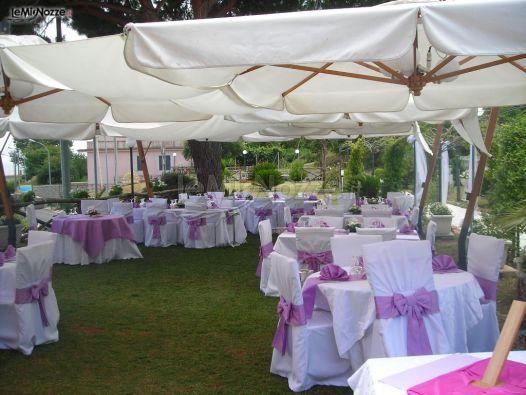 Ricevimento di matrimonio in giardino - Ristorante Bellavista