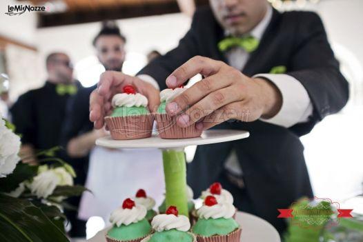 Mini cake per il matrimonio verdi