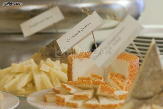 Degustazione formaggi per le nozze