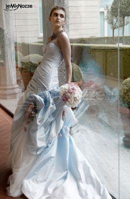 Favorito Foto 101 - Abiti da sposa colorati - Vestito da sposa con balze e ZN64