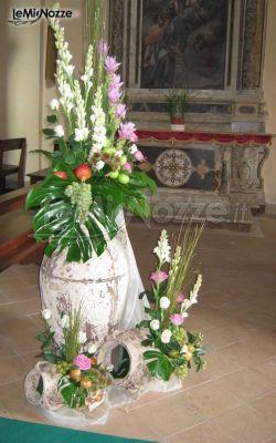 Anfore Con Fiori.Foto 429 Addobbi Floreali Chiesa E Cerimonia