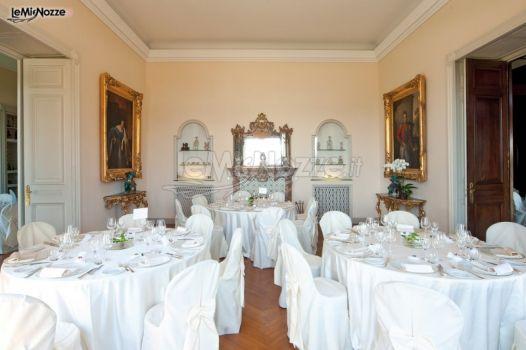 Sala Virginia Dal Pozzo allestita per le nozze