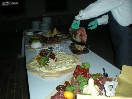 Il tavolo per gli antipasti di nozze