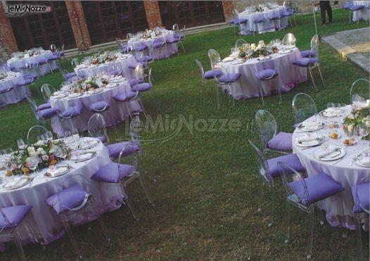 Matrimonio In Lilla : Foto matrimonio in lilla allestimento del