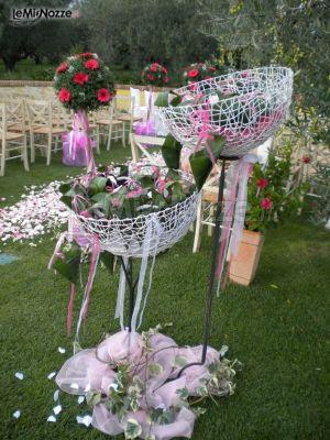 Foto 77 matrimonio in rosa allestimento per i coni - Porta riso matrimonio ...