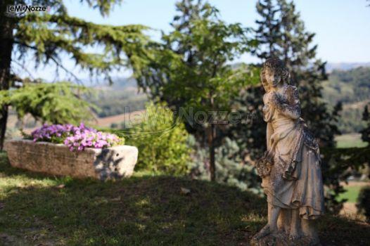 Giardino della villa di matrimonio